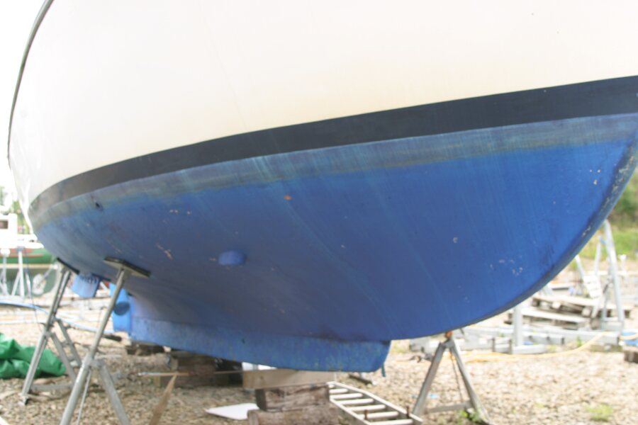 Finnsailer 35ft Motor Sailer Hull below the waterline