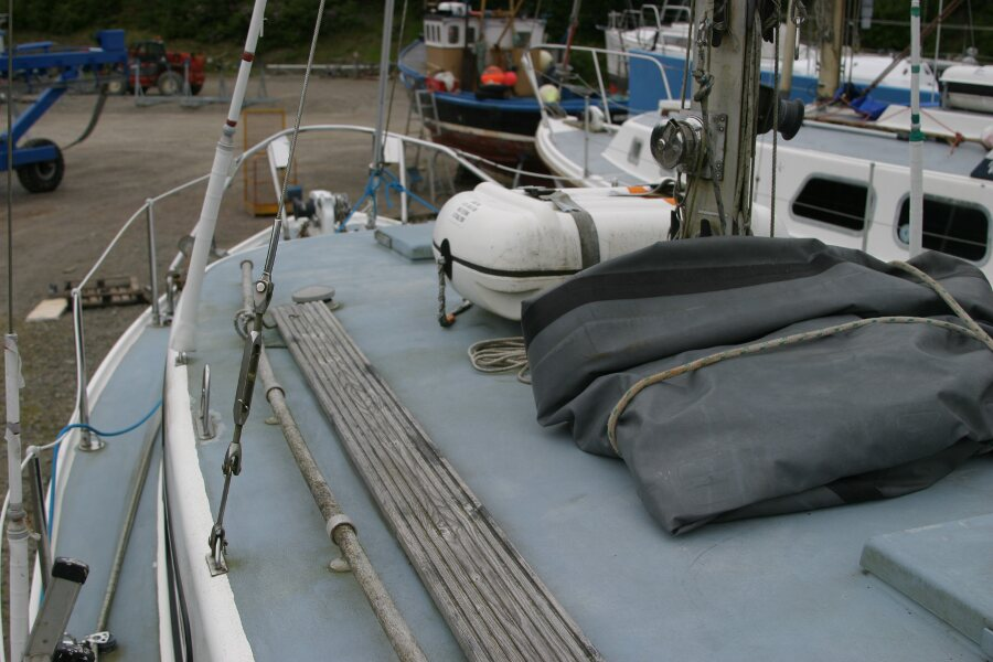Finnsailer 35ft Motor Sailer Coachroof port side looking forward