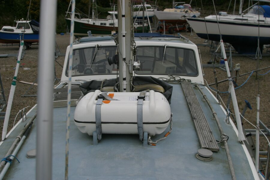 Finnsailer 35ft Motor Sailer Looking Aft from foredeck