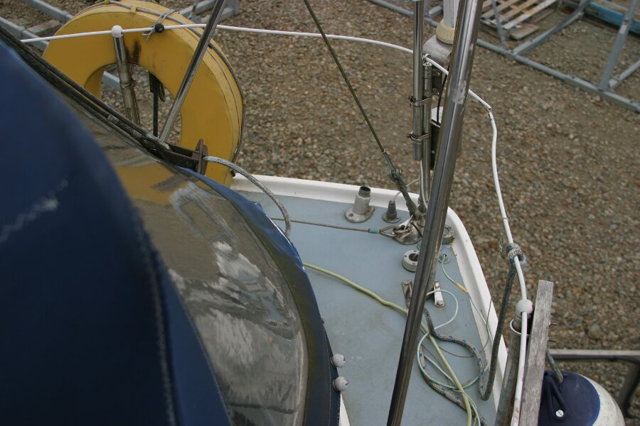 Finnsailer 35ft Motor Sailer Sft deck from port side