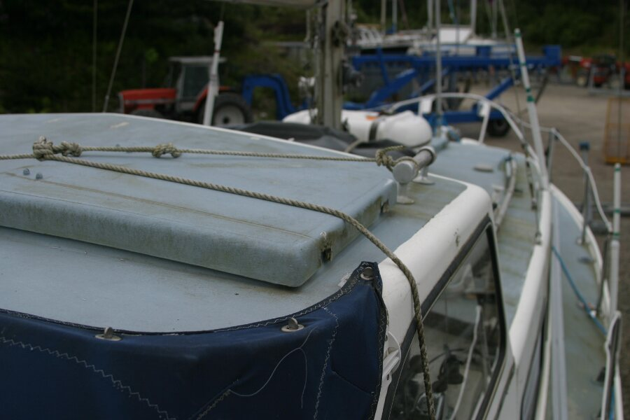 Finnsailer 35ft Motor Sailer Looking forward, starboard side