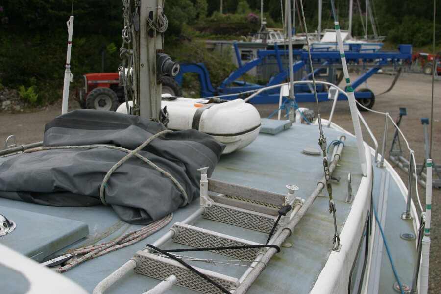 Finnsailer 35ft Motor Sailer Coachroof, starboard view looking forward