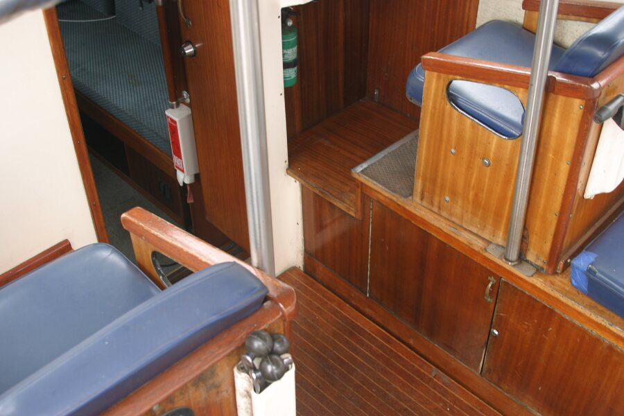 Finnsailer 35ft Motor Sailer Companionway entrance