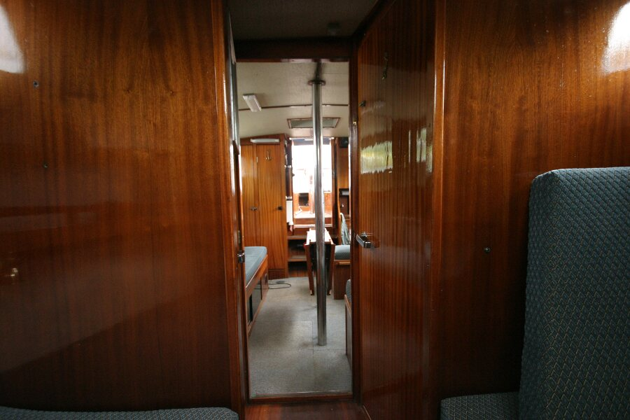 Finnsailer 35ft Motor Sailer Forward cabin looking aft