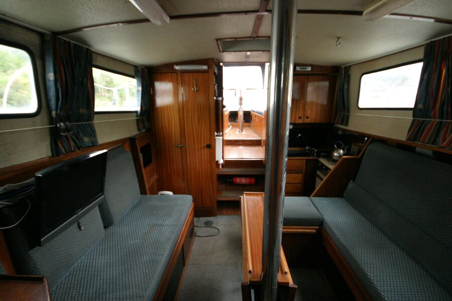 Finnsailer 35ft Motor Sailer Saloon looking aft