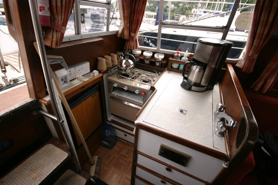 Trident Voyager 35for sale Galley on port side -