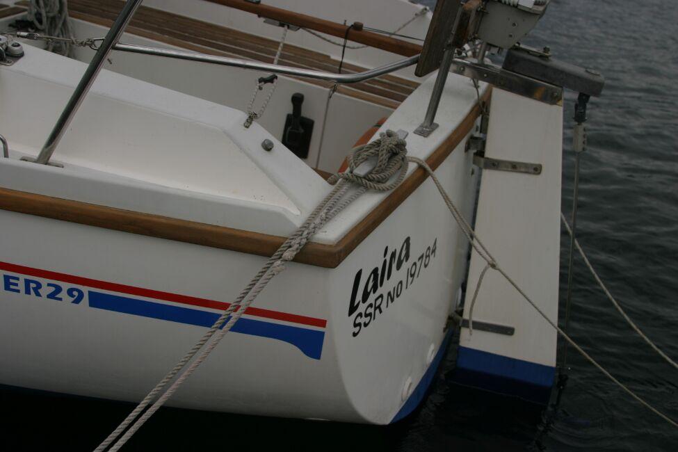 Sadler 29 Stern hung rudder