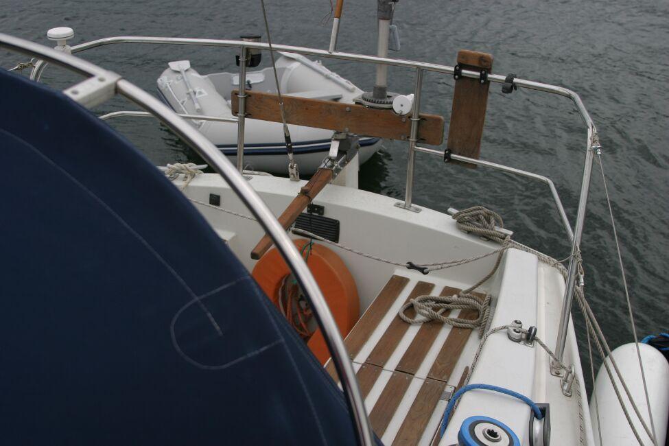 Sadler 29 Looking aft to cockpit