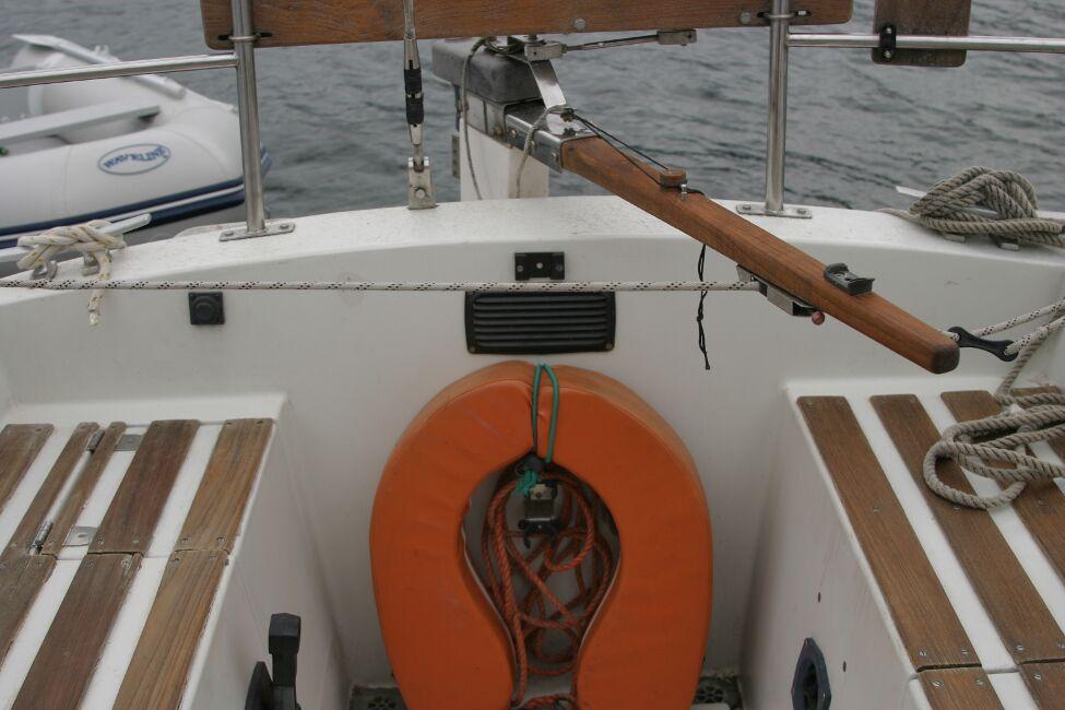 Sadler 29 In the cockpit