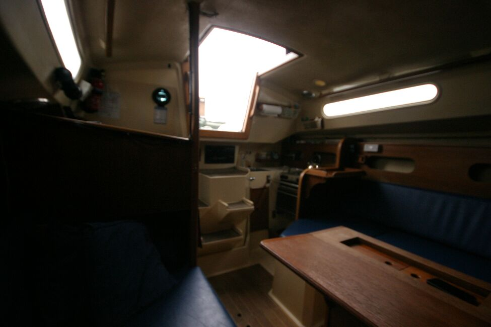 Sadler 29for sale Looking aft in saloon - towards galley
