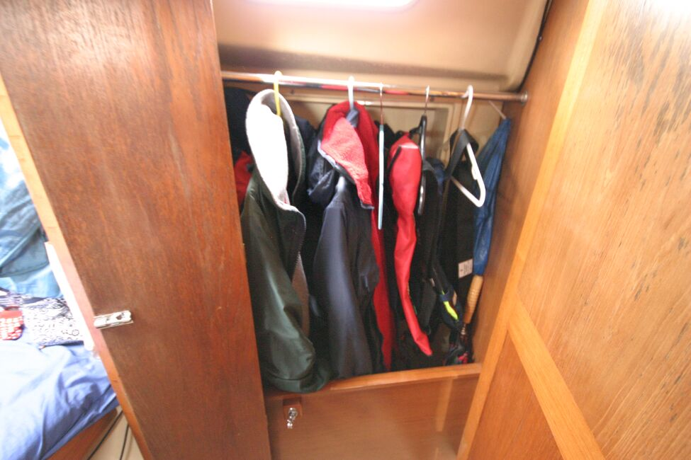 Sadler 29 Hanging locker to starboard