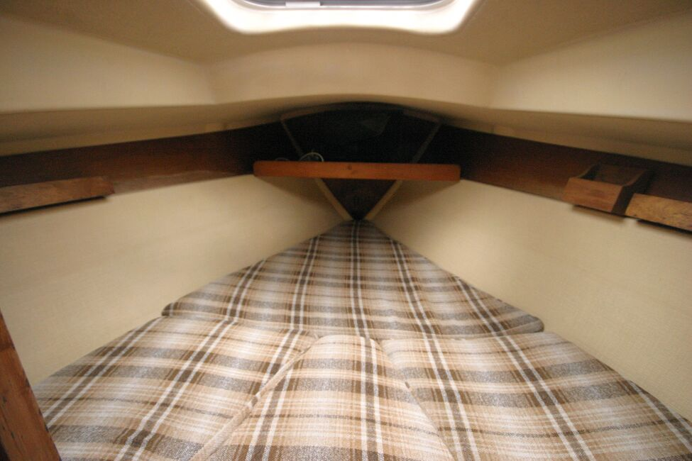 Sadler 29for sale Forward cabin - comfortable and well lit. -