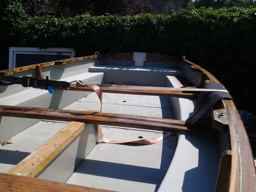 Dayboat  / Fishing Boatfor sale Inside, looking towards transom -