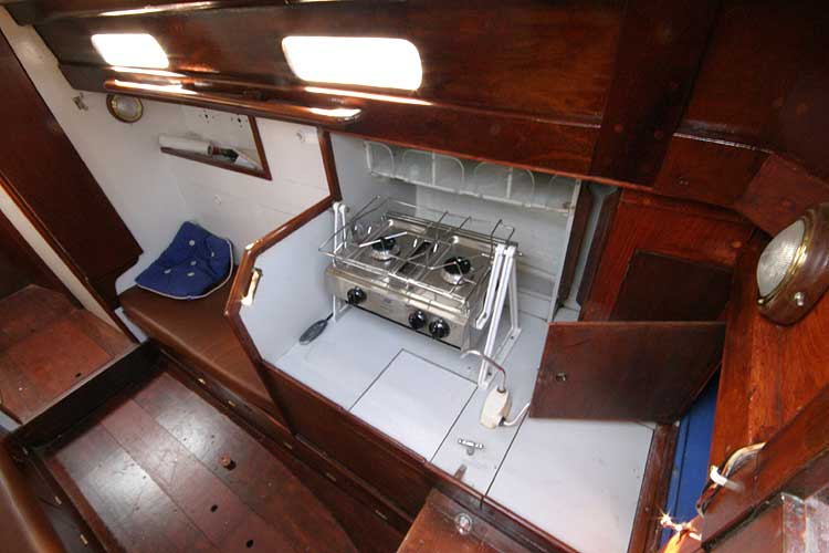 Twister 28 Galley from companionway