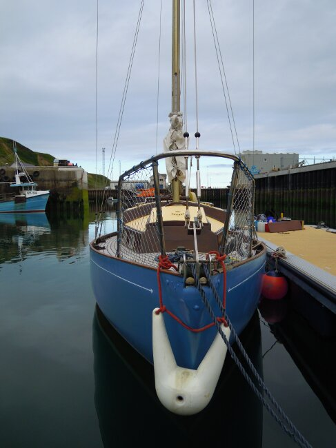Wooden Classic 29 foot Bermudan Sloopfor sale Bows - Owner's photo