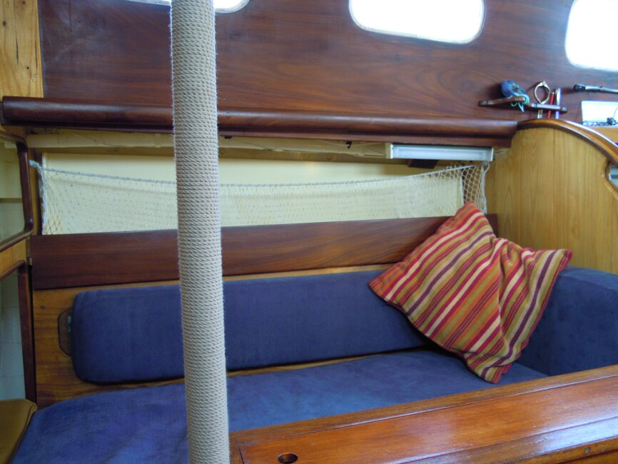 Wooden Classic 29 foot Bermudan Sloopfor sale Starboard side berth - close up - Owner's photo
