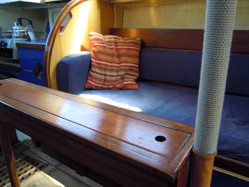 Wooden Classic 29 foot Bermudan Sloopfor sale Port side berth - close up - Owner's photo