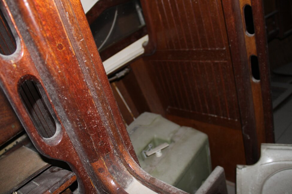 Barn Find Bilge Keelerfor sale Port side, Heads compartment - Chemical toilet.