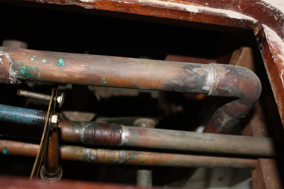 Barn Find Bilge Keelerfor sale Engine compartment plumbing -