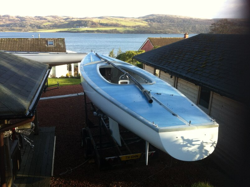 Soling International 27for sale Stern view -