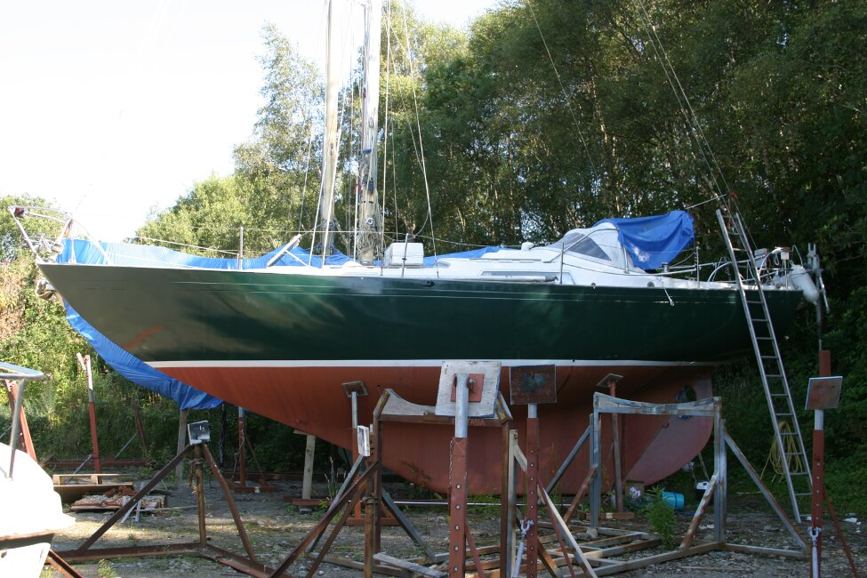 Nicholson 32 Mk Xfor sale On the Hard in the Boatyard -