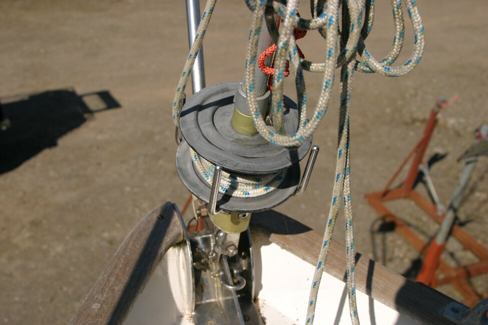 Nicholson 32 Mk Xfor sale Close up of roller reefing gear -