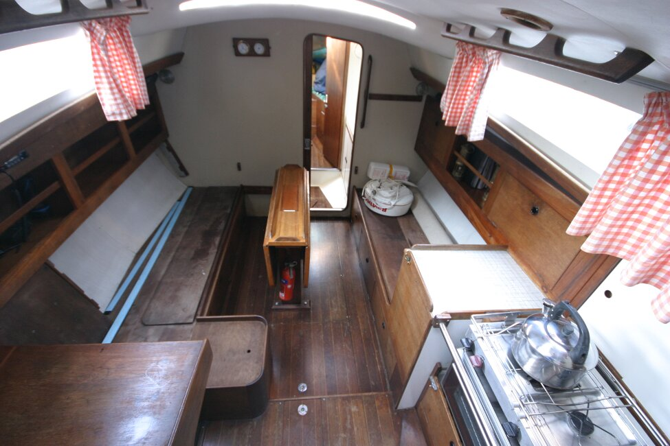 Nicholson 32 Mk Xfor sale Saloon from companionway entrance -