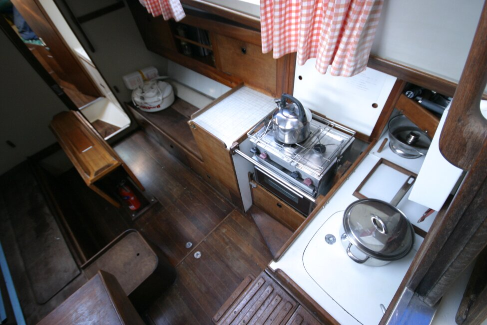 Nicholson 32 Mk Xfor sale Galley to starboard of companionway -