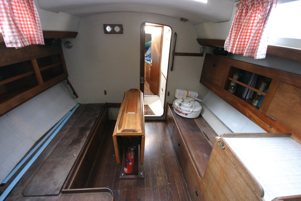 Nicholson 32 Mk Xfor sale Saloon, looking forward -