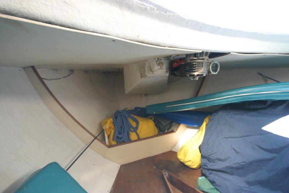 Nicholson 32 Mk X Bow storage