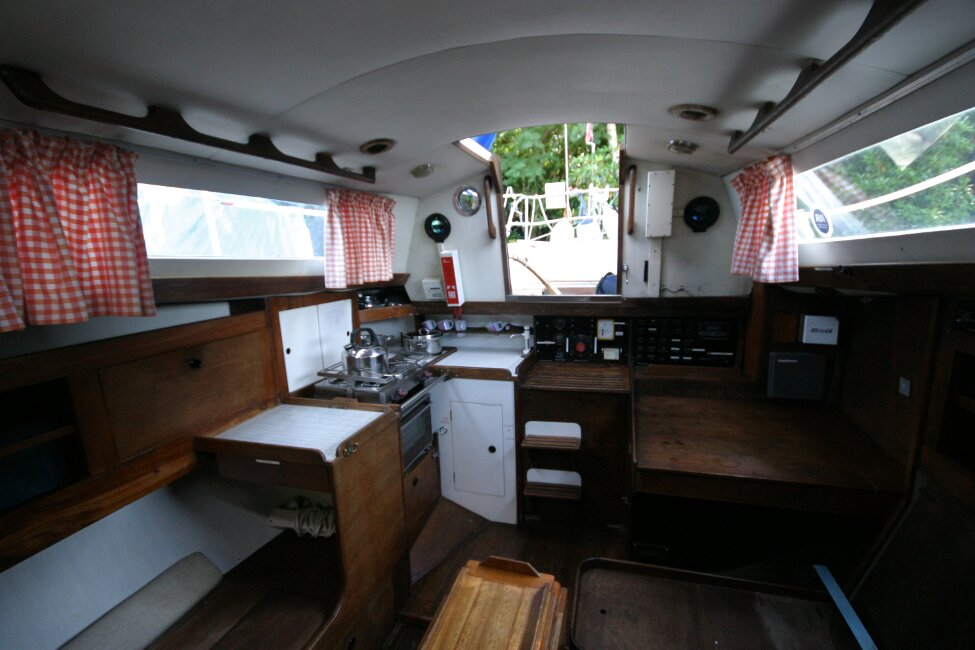 Nicholson 32 Mk Xfor sale Saloon - towards the companionway -