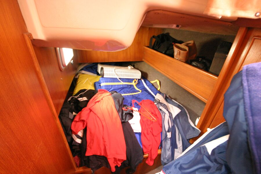 Jeanneau SunShine Regatta 38for sale Port Aft Cabin - Currently used as a walk in storeroom!