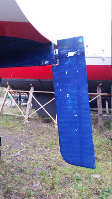 Jeanneau Fantasia 27for sale Rudder -