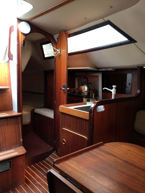 Jeanneau Fantasia 27 Galley and Aft Cabin entrance