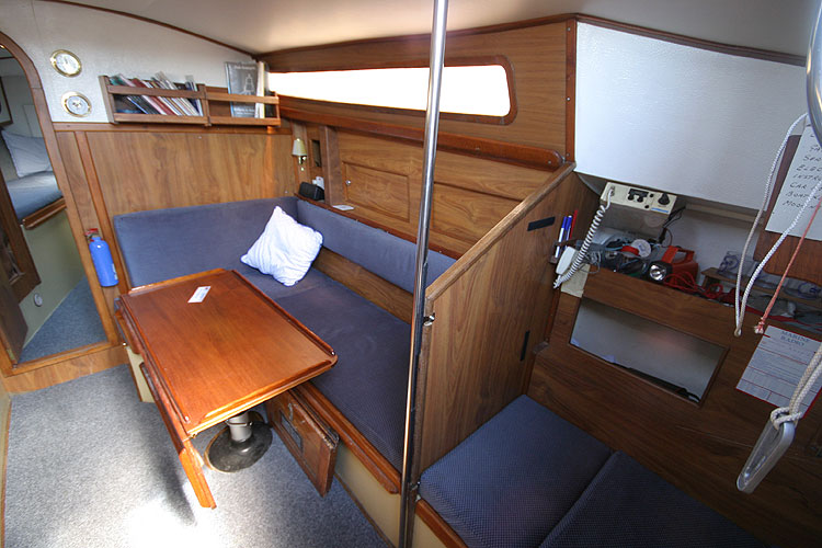 Moody 30for sale View to starboard - salon and nav station/quarterberth