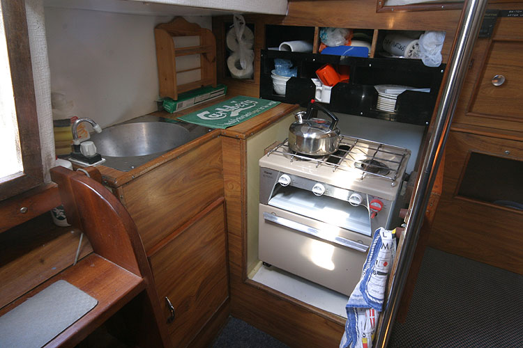 Moody 30for sale Galley -