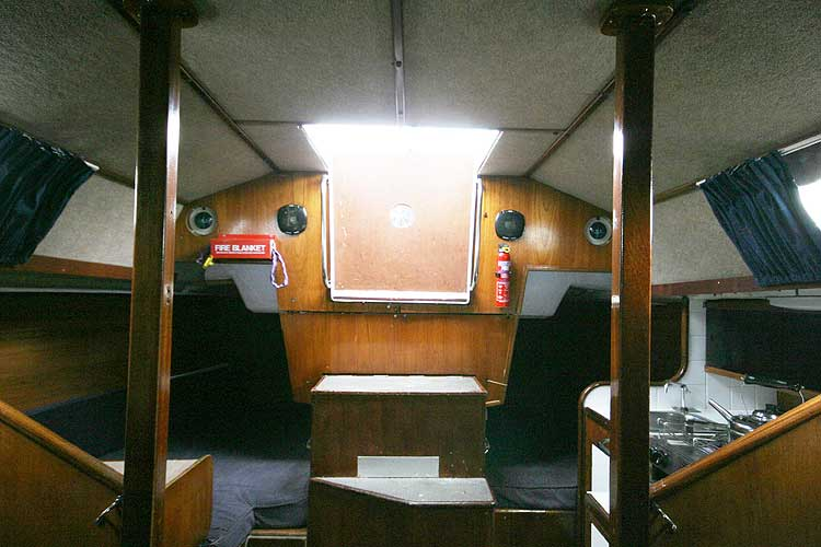 Bolero 35 The saloon looking aft