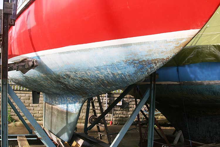 Van de Stadt Pioneer 9for sale View from starboard - The hull has had several coats of epoxy