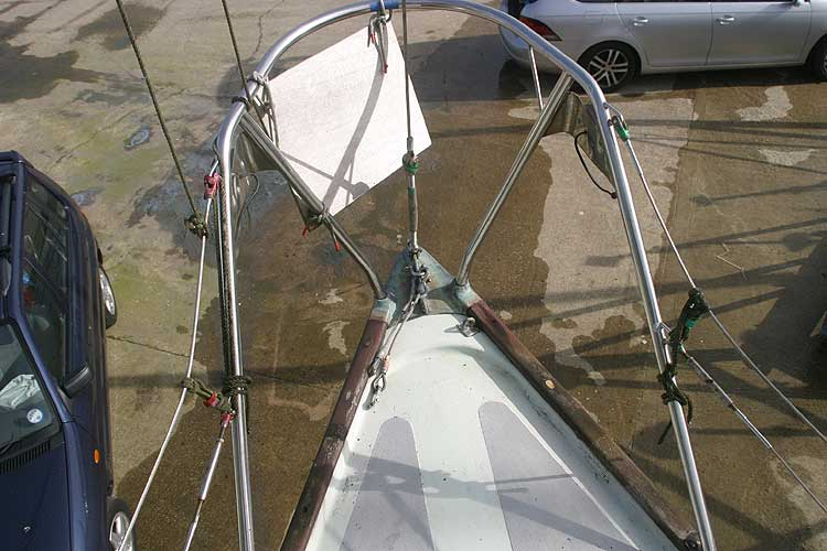 Van de Stadt Pioneer 9for sale Foredeck view -
