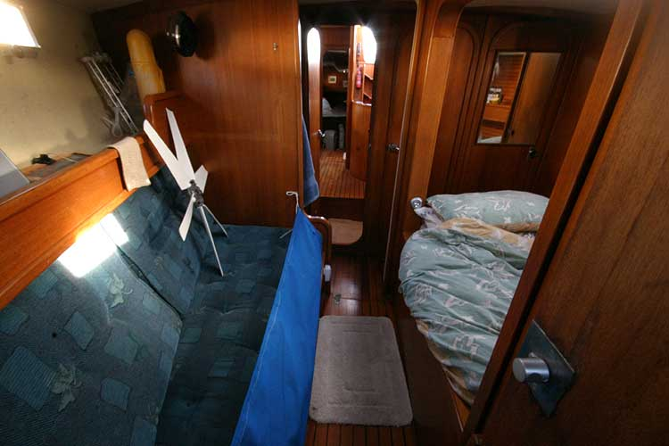Jeanneau Trinidad 48 Ketchfor sale View aft from the sail locker -