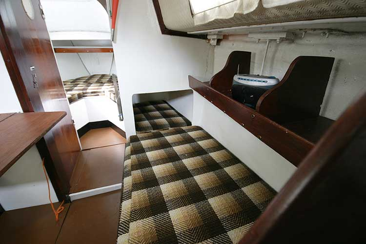 Colvic Sailor The starboard settee berth
