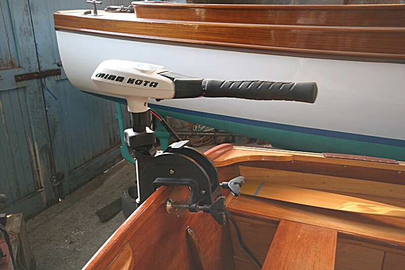 Jacky Kay Carvel Tender Electric Outboard