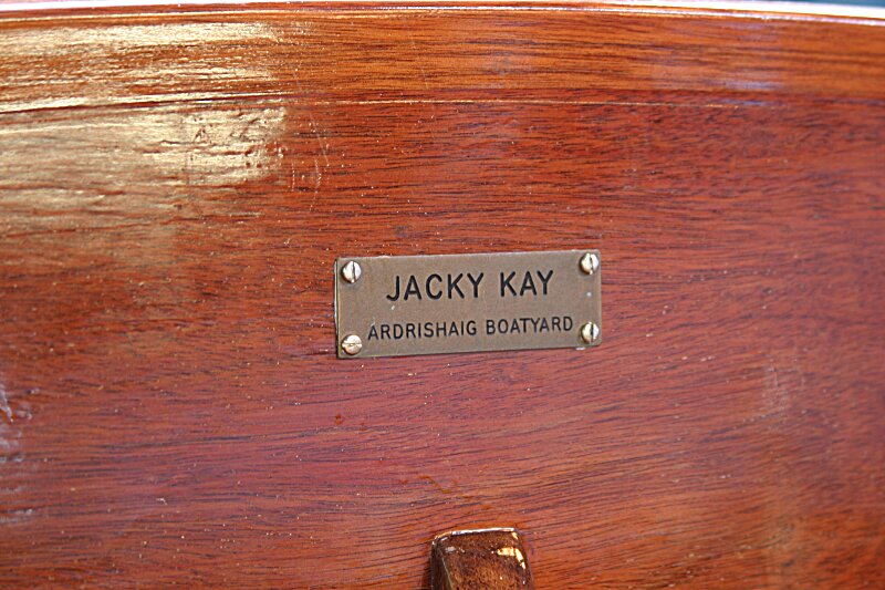Jacky Kay Carvel Tender Builder's Plate