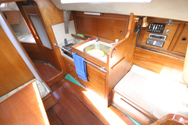 Colvic UFO 27for sale Saloon looking right from companionway -