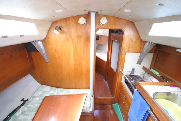 Colvic UFO 27for sale Saloon looking forward -