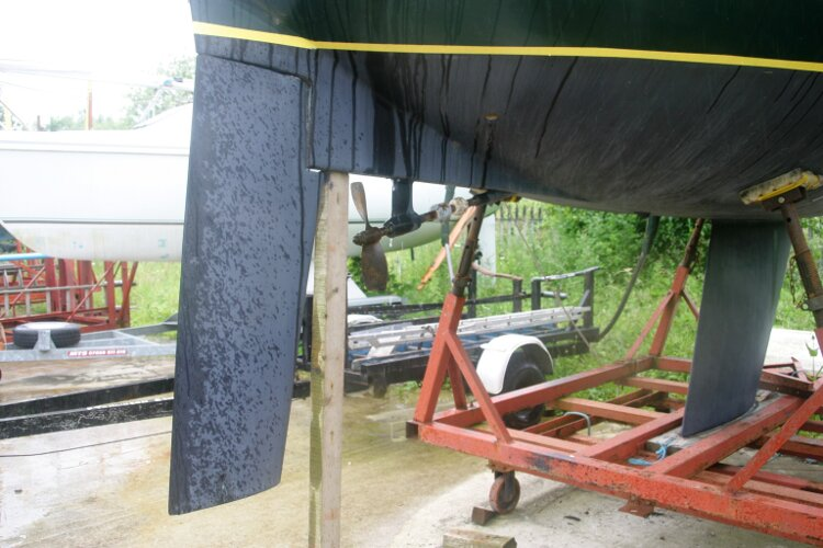 Master Marine Eygthene 24 The rudder from starboard