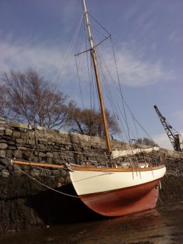 Wooden Classic Gaff cutter for sale